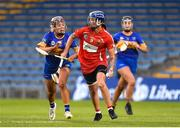 18 August 2018; Ashling Thompson of Cork in action against Orla O'Dwyer of Tipperary during the Liberty Insurance All-Ireland Senior Camogie Championship semi-final match between Cork and Tipperary at Semple Stadium in Thurles, Tipperary. Photo by Matt Browne/Sportsfile