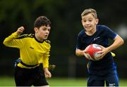 19 August 2018; Alex Flynn of Monaghan Town, Co. Monaghan, competing in the Rugby Tag U11 event during day two of the Aldi Community Games August Festival at the University of Limerick in Limerick. Photo by Harry Murphy/Sportsfile
