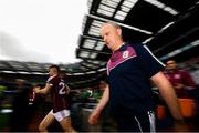 19 August 2018; Galway manager Micheál Donoghue makes his way onto toe pitch prior to the GAA Hurling All-Ireland Senior Championship Final match between Galway and Limerick at Croke Park in Dublin. Photo by Stephen McCarthy/Sportsfile