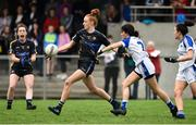 19 August 2018; Aishling Moloney of Tipperary  in action against Rachel Doonan of Cavan  during the 2018 TG4 All-Ireland Ladies Senior Football Championship relegation play-off match between Cavan and Galway at Dolan Park in Cavan. Photo by Oliver McVeigh/Sportsfile