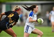 19 August 2018; Sinead Greene of Cavan  in action against Orla O'Dwyer of Tipperary  during the 2018 TG4 All-Ireland Ladies Senior Football Championship relegation play-off match between Cavan and Galway at Dolan Park in Cavan. Photo by Oliver McVeigh/Sportsfile