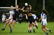 19 August 2018; Aishling Moloney and Emma Buckley of Tipperary  in action against Sinead Greene of Cavan  during the 2018 TG4 All-Ireland Ladies Senior Football Championship relegation play-off match between Cavan and Galway at Dolan Park in Cavan. Photo by Oliver McVeigh/Sportsfile