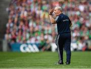 19 August 2018; Galway manager Micheál Donoghue during the GAA Hurling All-Ireland Senior Championship Final match between Galway and Limerick at Croke Park in Dublin. Photo by Stephen McCarthy/Sportsfile