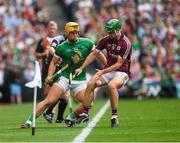 19 August 2018; David Burke of Galway in action against Tom Morrissey of Limerick during the GAA Hurling All-Ireland Senior Championship Final match between Galway and Limerick at Croke Park in Dublin. Photo by Ray McManus/Sportsfile