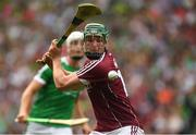 19 August 2018; Cathal Mannion of Galway shoots as Kyle Hayes of Limerick closes in during the GAA Hurling All-Ireland Senior Championship Final match between Galway and Limerick at Croke Park in Dublin. Photo by Piaras Ó Mídheach/Sportsfile