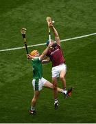 19 August 2018; Conor Cooney of Galway in action against Richie English of Limerick during the GAA Hurling All-Ireland Senior Championship Final match between Galway and Limerick at Croke Park in Dublin. Photo by Daire Brennan/Sportsfile