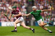 19 August 2018; Cathal Mannion of Galway in action against Kyle Hayes of Limerick during the GAA Hurling All-Ireland Senior Championship Final match between Galway and Limerick at Croke Park in Dublin. Photo by Stephen McCarthy/Sportsfile