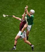 19 August 2018; Kyle Hayes of Limerick in action against Joe Canning of Galway during the GAA Hurling All-Ireland Senior Championship Final match between Galway and Limerick at Croke Park in Dublin. Photo by Daire Brennan/Sportsfile