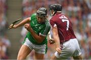 19 August 2018; Gearóid Hegarty of Limerick in action against Aidan Harte of Galway during the GAA Hurling All-Ireland Senior Championship Final match between Galway and Limerick at Croke Park in Dublin. Photo by Piaras Ó Mídheach/Sportsfile