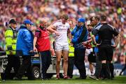 19 August 2018; James Skehill of Galway leaves the pitch due to injury during the GAA Hurling All-Ireland Senior Championship Final match between Galway and Limerick at Croke Park in Dublin. Photo by Stephen McCarthy/Sportsfile