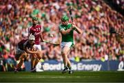 19 August 2018; Shane Dowling of Limerick scores his side's third goal during the GAA Hurling All-Ireland Senior Championship Final match between Galway and Limerick at Croke Park in Dublin. Photo by Stephen McCarthy/Sportsfile