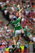 19 August 2018; Jonathan Glynn of Galway in action against Richie McCarthy of Limerick during the GAA Hurling All-Ireland Senior Championship Final match between Galway and Limerick at Croke Park in Dublin. Photo by Eóin Noonan/Sportsfile