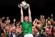 19 August 2018; Limerick captain Declan Hannon lifts the Liam MacCarthy Cup following the GAA Hurling All-Ireland Senior Championship Final match between Galway and Limerick at Croke Park in Dublin. Photo by Stephen McCarthy/Sportsfile