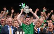 19 August 2018; Declan Hannon of Limerick lifts the Liam MacCarthy Cup following the GAA Hurling All-Ireland Senior Championship Final match between Galway and Limerick at Croke Park in Dublin. Photo by Stephen McCarthy/Sportsfile