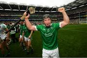 19 August 2018; Peter Casey of Limerick celebrates following the GAA Hurling All-Ireland Senior Championship Final match between Galway and Limerick at Croke Park in Dublin. Photo by Stephen McCarthy/Sportsfile