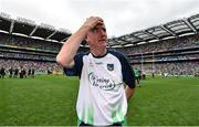 19 August 2018; Limerick manager John Kiely celebrates following the GAA Hurling All-Ireland Senior Championship Final match between Galway and Limerick at Croke Park in Dublin. Photo by Seb Daly/Sportsfile