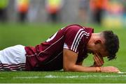 19 August 2018; A dejected Jason Flynn of Galway following the GAA Hurling All-Ireland Senior Championship Final match between Galway and Limerick at Croke Park in Dublin. Photo by Brendan Moran/Sportsfile