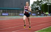 19 August 2018; Lydia Doyle, Galway County, on her way to win the Premier Womens 4x 400m Relay event during the AAI National League Final at Tullamore Harriers Stadium in Offaly. Photo by Barry Cregg/Sportsfile