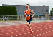 19 August 2018; ROb Bennett, Nenagh Olympic A.C., Tipperary, on his way to winning the Division 1 4x400m Relay event during the AAI National League Final at Tullamore Harriers Stadium in Offaly. Photo by Barry Cregg/Sportsfile