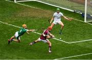 19 August 2018; Conor Whelan of Galway scores his side's first goal during the GAA Hurling All-Ireland Senior Championship Final match between Galway and Limerick at Croke Park in Dublin. Photo by Daire Brennan/Sportsfile
