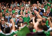 19 August 2018; Limerick captain Declan Hannon lifts the Liam MacCarthy Cup in celebration following the GAA Hurling All-Ireland Senior Championship Final between Galway and Limerick at Croke Park in Dublin. Photo by Stephen McCarthy/Sportsfile