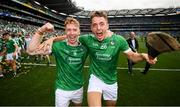 19 August 2018; Cian Lynch, left, and Pat Ryan of Limerick celebrate following the GAA Hurling All-Ireland Senior Championship Final between Galway and Limerick at Croke Park in Dublin. Photo by Stephen McCarthy/Sportsfile