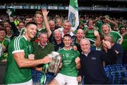 19 August 2018; Dan Morrissey, left, and Tom Morrissey of Limerick celebrate following the GAA Hurling All-Ireland Senior Championship Final between Galway and Limerick at Croke Park in Dublin. Photo by Stephen McCarthy/Sportsfile