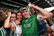 19 August 2018; Aaron Gillane of Limerick and family celebrate following the GAA Hurling All-Ireland Senior Championship Final between Galway and Limerick at Croke Park in Dublin. Photo by Stephen McCarthy/Sportsfile