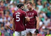 19 August 2018; Pádraic Mannion, left, and Jonathan Glynn of Galway at the final whistle of the GAA Hurling All-Ireland Senior Championship Final match between Galway and Limerick at Croke Park in Dublin.  Photo by Brendan Moran/Sportsfile