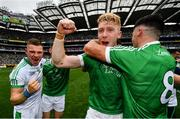 19 August 2018; Cian Lynch of Limerick celebrates following their victory in the GAA Hurling All-Ireland Senior Championship Final match between Galway and Limerick at Croke Park in Dublin.  Photo by Ramsey Cardy/Sportsfile