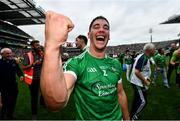 19 August 2018; Seán Finn of Limerick celebrates following their victory in the GAA Hurling All-Ireland Senior Championship Final match between Galway and Limerick at Croke Park in Dublin.  Photo by Ramsey Cardy/Sportsfile