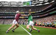 19 August 2018; Peter Casey of Limerick in action against Daithí Burke of Galway during the GAA Hurling All-Ireland Senior Championship Final between Galway and Limerick at Croke Park in Dublin. Photo by Stephen McCarthy/Sportsfile