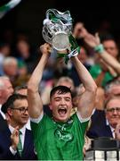 19 August 2018; Kyle Hayes of Limerick lifts the Liam MacCarthy Cup following the GAA Hurling All-Ireland Senior Championship Final match between Galway and Limerick at Croke Park in Dublin.  Photo by Seb Daly/Sportsfile
