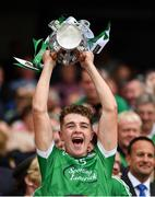 19 August 2018; David Reidy of Limerick lifts the Liam MacCarthy Cup following the GAA Hurling All-Ireland Senior Championship Final match between Galway and Limerick at Croke Park in Dublin.  Photo by Seb Daly/Sportsfile