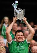 19 August 2018; Gearóid Hegarty of Limerick lifts the Liam MacCarthy Cup following the GAA Hurling All-Ireland Senior Championship Final match between Galway and Limerick at Croke Park in Dublin.  Photo by Seb Daly/Sportsfile