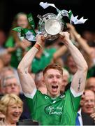 19 August 2018; Cian Lynch of Limerick lifts the Liam McCarthy Cup following the GAA Hurling All-Ireland Senior Championship Final match between Galway and Limerick at Croke Park in Dublin.  Photo by Seb Daly/Sportsfile