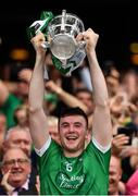 19 August 2018; Declan Hannon of Limerick lifts the Liam MacCarthy Cup following the GAA Hurling All-Ireland Senior Championship Final match between Galway and Limerick at Croke Park in Dublin. Photo by Seb Daly/Sportsfile