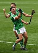 19 August 2018; Darragh O'Donovan and Pat Ryan of Limerick celebrate after the GAA Hurling All-Ireland Senior Championship Final match between Galway and Limerick at Croke Park in Dublin.  Photo by Ray McManus/Sportsfile