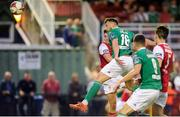 18 August 2018; Josh O' Hanlon of Cork City scores his side's first goal during the SSE Airtricity League Premier Division match between Cork City and St Patrick's Athletic at Turner's Cross in Cork. Photo by John O'Brien/Sportsfile