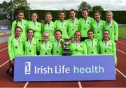 19 August 2018; The St. Abbans A.C. Womens team who won the Premier Womens competition during the AAI National League Final at Tullamore Harriers Stadium in Offaly. Photo by Barry Cregg/Sportsfile