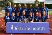 19 August 2018; The Monaghan County Womens team who won the Division 1 Womens competition during the AAI National League Final at Tullamore Harriers Stadium in Offaly. Photo by Barry Cregg/Sportsfile