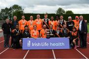 19 August 2018; The Clonliffe Harrier A.C. mens team who won the Premier Mens competition during the AAI National League Final at Tullamore Harriers Stadium in Offaly. Photo by Barry Cregg/Sportsfile