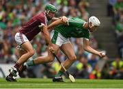 19 August 2018; Kyle Hayes of Limerick in action against David Burke of Galway during the GAA Hurling All-Ireland Senior Championship Final match between Galway and Limerick at Croke Park in Dublin.  Photo by Piaras Ó Mídheach/Sportsfile