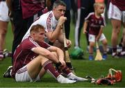 19 August 2018; Galway players Conor Whelan, front, and Colm Callanan dejected after the GAA Hurling All-Ireland Senior Championship Final match between Galway and Limerick at Croke Park in Dublin.  Photo by Piaras Ó Mídheach/Sportsfile