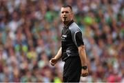19 August 2018; Referee James Owens during the GAA Hurling All-Ireland Senior Championship Final match between Galway and Limerick at Croke Park in Dublin.  Photo by Piaras Ó Mídheach/Sportsfile