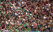 19 August 2018; Joe Canning of Galway prepares to take a free, watched by spectators in the Hogan Stand, during the GAA Hurling All-Ireland Senior Championship Final match between Galway and Limerick at Croke Park in Dublin.  Photo by Piaras Ó Mídheach/Sportsfile