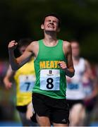 19 August 2018; Matthew Hayes of Ratoath - Rathbeggan, Co.Meath, celebrates winning the 1500m U16 & O14 Boys event during day two of the Aldi Community Games August Festival at the University of Limerick in Limerick. Photo by Sam Barnes/Sportsfile