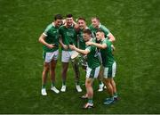 19 August 2018; Kevin Downes takes a selfie with the Liam MacCarthy Cup and team-mates, left to right, Gearóid Hegarty, Declan Hannon, Pat Ryan, Shane Dowling and Michael Casey after the GAA Hurling All-Ireland Senior Championship Final match between Galway and Limerick at Croke Park in Dublin. Photo by Daire Brennan/Sportsfile