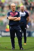 19 August 2018; A dejected Galway manager Micheál Donoghue following the GAA Hurling All-Ireland Senior Championship Final match between Galway and Limerick at Croke Park in Dublin.  Photo by Eóin Noonan/Sportsfile