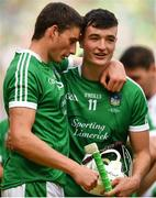 19 August 2018; Kyle Hayes with Gearóid Hegarty of Limerick following the GAA Hurling All-Ireland Senior Championship Final match between Galway and Limerick at Croke Park in Dublin.  Photo by Eóin Noonan/Sportsfile